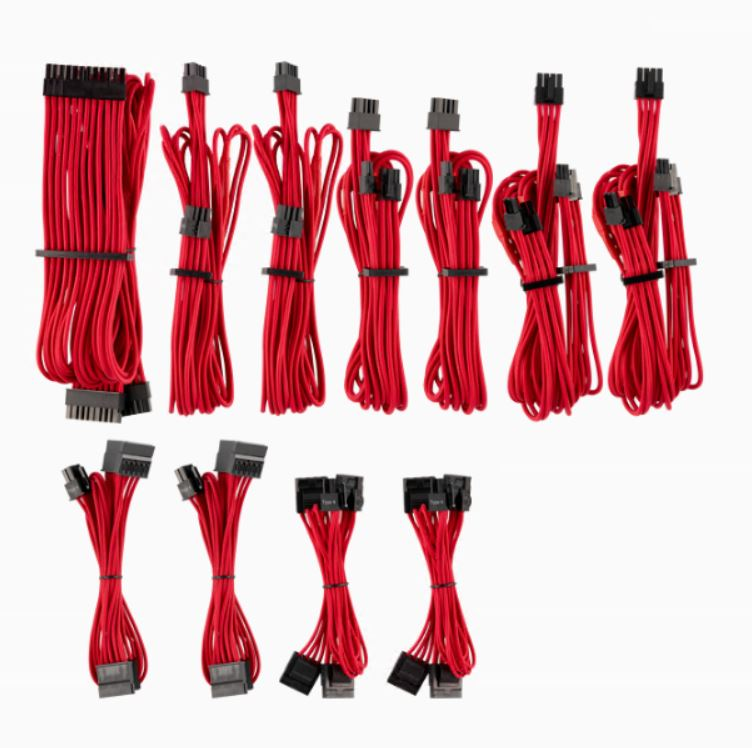 generation 2 , Corsair Professional Individually Sleeved Dc Cable Kit Type 3