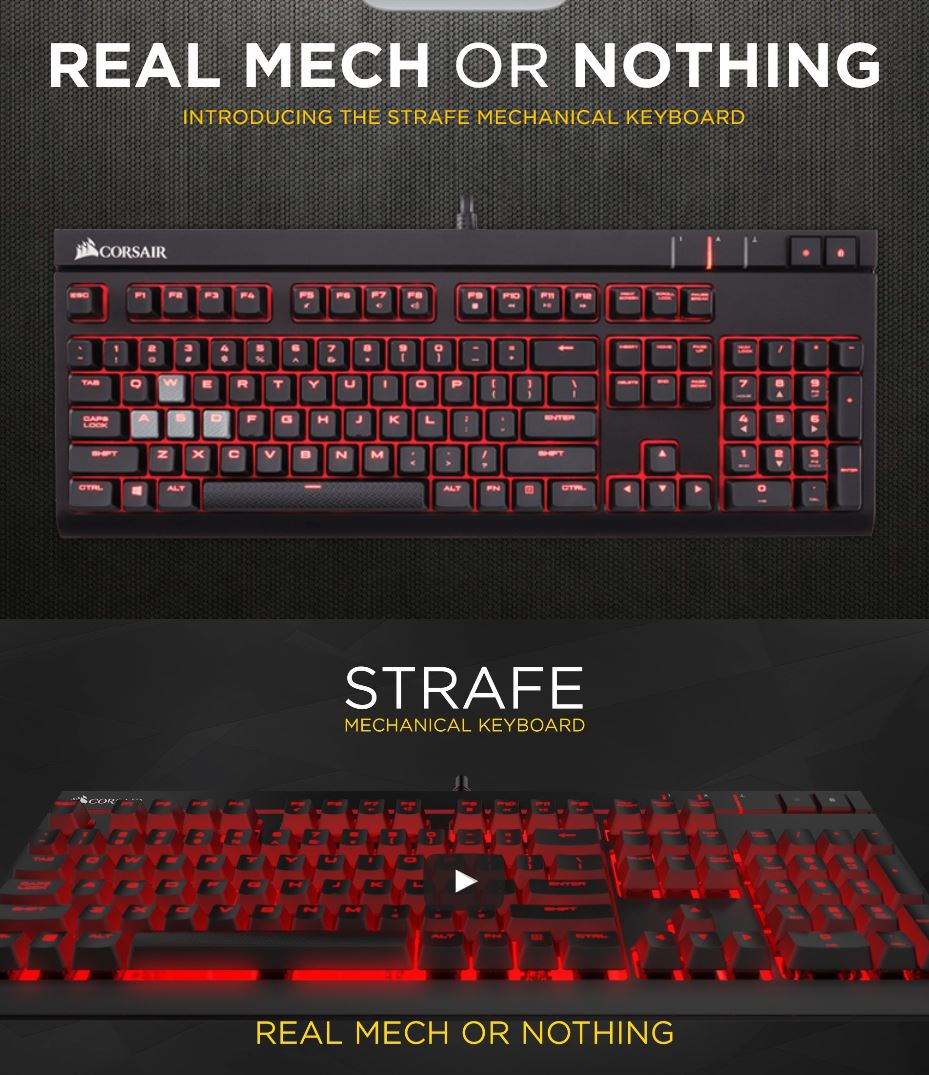 Corsair Keyboards Sunlit Computers K95 Rgb Platinum Mechanical Gaming Keyboard Cherry Mx Speed Strafe Blue With Red Led
